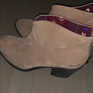 Blowfish Short Western Booties Perfect Condition